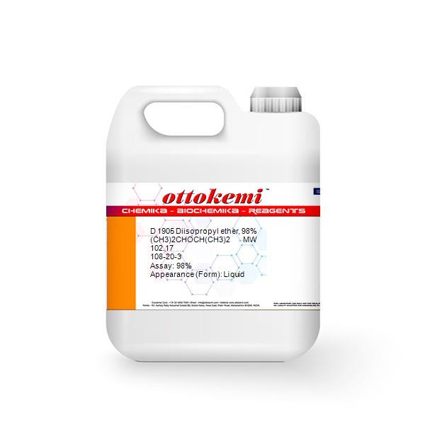 Diisopropyl ether, 98%, 108-20-3, D 1905, (2)