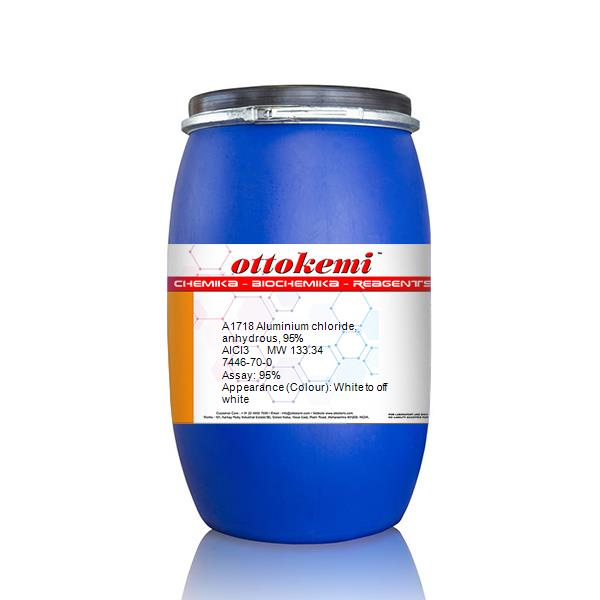 Aluminium chloride, anhydrous, 95% 7446-70-0 | India | Otto Chemie